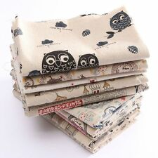 10 Sewing Craft Remnants Vintage Europe Style Natural Cotton Linen Fabric Cloth