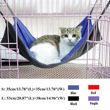 Reversible Double-sided Pet Cat Hammock Bed Hanging Cage Summer/Winter Bed Large