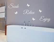 Wall sticker quotes Soak Relax Enjoy - great quality, free post, words for walls