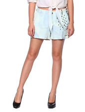 Da Nang Womens Hot Pants Unstructured Silk Shorts Summer Zipper Clousure US 9-15