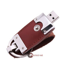Leather USB Flash Pen Drive Thumb Stick Key Memory Storage 1- 4GB 8GB 16GB Disk