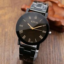 KEVIN Casual Fashion Women's Quartz Wrist Watch Mens Stainless Steel Band 913