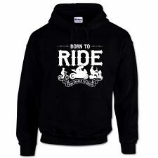 Born To Ride Funny Biker Motorcycle Superbike Racing Moto GP Mens Hoodie
