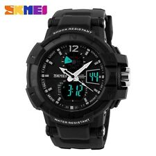 New SKMEI 50M Waterproof LED Dial Digital Wrist Watch Rubber Band Men's Gifts AU