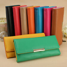 SALE Women Leather Long Wallet Button Clutch Purse Lady Handbag Bag Card Holder
