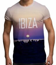 Ibiza 2015 Night All Over Print Fashion Holiday Sun Summer Beach Mens T Shirt