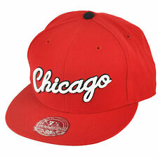 NBA Mitchell & Ness TK41 Wool HWC Chicago Bulls Basketball Fitted Hat Cap