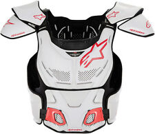 ALPINESTARS A-8 Chest Protector/Guard MX ATV Off-Road (White/Red) Choose Size