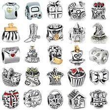 Fashion Cute Clip Beads Fit Europeans Charms 925 Silver Sterling Bracelets Chain