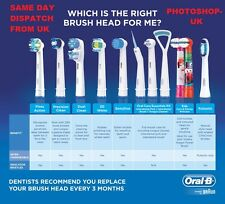 ORAL-B TOOTHBRUSH HEADS- PULSONIC,SENSITIVE,CROSS-ACTION,TRIZONE,STAGES,OXYJET!