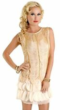 1920's Vintage Style Fringed Flapper Dress Great Gatsby Women's Costume PLUS