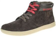 Caterpillar CAT Mens Enfield Leather Hi Top Trainers Lace Up Shoes Boots Skate
