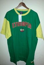MEN T SHIRTS/ETHIOPIA/MENTOPS/ 100% COTTON/PLAY SMART NY/GREEN YELLOW/CASUAL AND