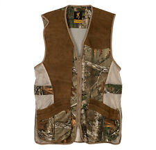 Mens NWT Browning Crossover Shooting Vest Realtree Xtra Camo Leather M L XL 2XL