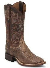 New Women's Tony Lama 1808-L Sienna Tri-Tone Lizard Brown Western Cowgirl Boots