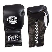 NEW Cleto Reyes Pro Sparring Boxing Gloves Lace Up Leather Black Mexican Made