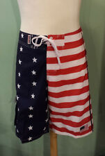 Men's American Flag Stars and Stripes Swim Trunks Board Shorts Fourth Of July
