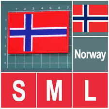 NORWAY NORWEGIAN NATIONAL FLAG FLAG SEW ON PATCH IRON ON PATCH EMBROIDERED SMALL
