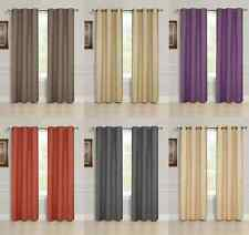 2 PANEL SOLID LINED THERMAL BLACKOUT GROMMET WINDOW CURTAIN DRAPE 2 SIZES