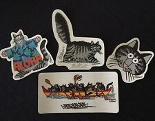 KLiBAN BAD CAT DECAL STiCKER CRAZY SHiRTS ALOHA & CANOE CATS SUPPORT FERAL CATS!