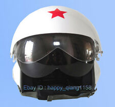 TWO Visors& Motocross Chinese Flight White Jet Pilot Open Face Motorcycle Helmet