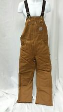 Carhartt Duck Bib Overall Arctic Quilt LIned R03BRN - NWT