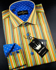 Colorful stripped shirt for men by Bertigo | Wayne 10