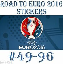 #49 - 96 Road to Euro 2016 Panini stickers ENGLAND / GERMANY / SPAIN