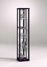 Living & Dining Room Space 1 Door Glass Display Cabinet with Internal Light