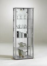 Living & Dining Room Space 2 Door Glass Display Cabinet with Internal Light