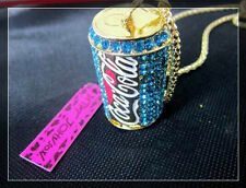 Betsey Johnson Creative fashion cola bottles necklace pendant Blue, red, pink