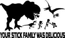 Dinosaur Eating Anti Stick Family Sticker Decal Trex Ate Your Stick Family