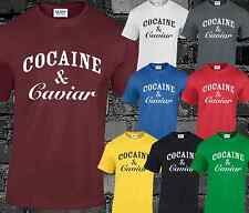 COCAINE AND CAVIAR CROOKS CASTLES MENS T SHIRT SWAG HIPSTER YOLO DOPE TUMBLR TOP