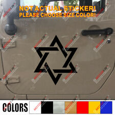Jew Jewish Star Of David Magen David Israel Car Decal Sticker