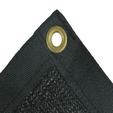 E.share 80% Black Outdoor Shade Cloth Taped Edge with Grommets UV Stabilized
