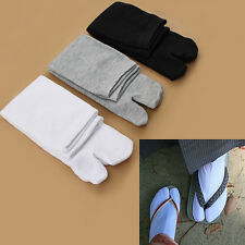 Cute Unisex Japanese Kimono Geta Clog Flip Flop Cotton Tabi Socks Split Toe NEW