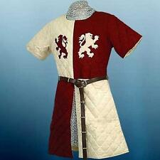 MEDIEVAL KNIGHT King Richard  Lionheart GAMBESON ARMING JACKET ROBE TUNIC L/XL