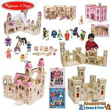 Melissa Doug Folding Wooden Princess Medieval Castle Early Learning Doll Furnitu