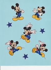 (8) pc. set of MICKEY MOUSE - Fabric Iron On Appliques # 578