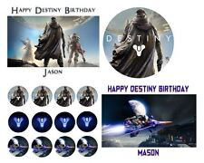 DESTINY Birthday Party Cake Edible Image Toppers, Cupcakes, or Sides