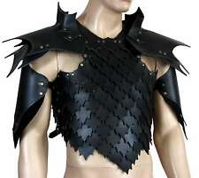 Leather Dragon Scale Armor Larp SCA Medieval Cosplay Costume Armor