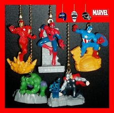 MARVEL AVENGERS ASSEMBLE FIGURINES CEILING FAN PULLS-HULK, THOR, IRON MAN, ETC..