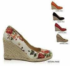 Women's Closed Toe Slip On Espadrille Wedge Pumps PARMA