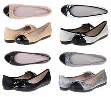 LE MIU LUCKY New Women's Dress Soft Bow Rhinestone Gold Accent Flats Shoes