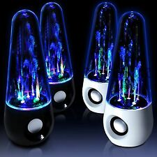 Water Dancing LED Colour Change Fountain USB Iphone Ipod MP3 Music Speakers Set
