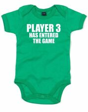 Player 3 Has Entered The Game, Printed Baby Grow