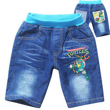 Teenage Mutant Ninja Turtles Clothing Kids Boys Jeans Shorts Casual Denim Pants