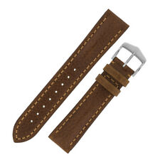 Hirsch LUCCA Tuscan Calfskin Leather Watch Strap and Buckle in GOLD BROWN