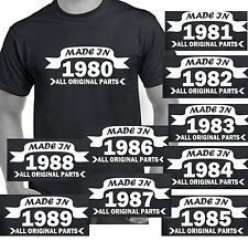 Made in 1980 1981 1982 1983 1984 dads birthday present gift funny t-shirt year