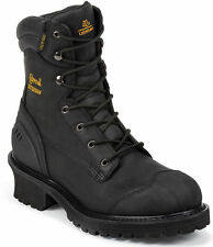 Men's Chippewa Composite Rubber Toe Black Waterproof Logger Boot 55056